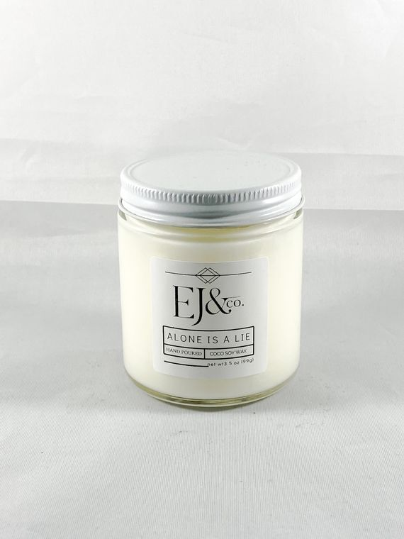 Alone Is A Lie [3.5 oz soy/coconut wax candle]