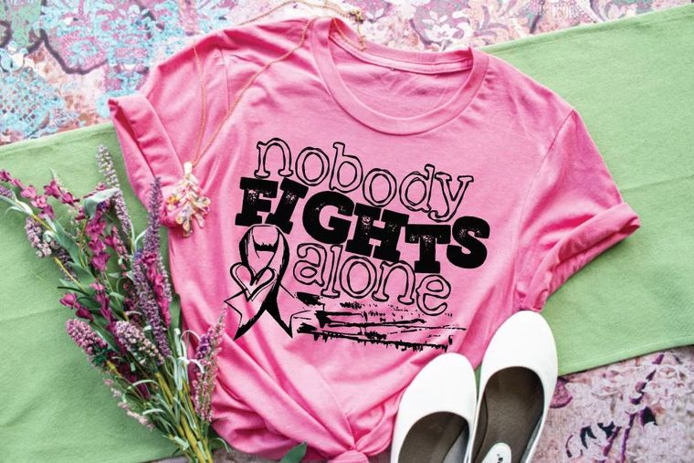 Nobody Fights Alone Adult Tee