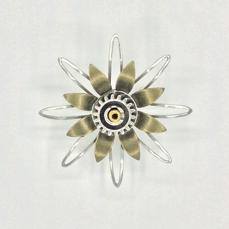 Mechanical Botanical Pin - 2110