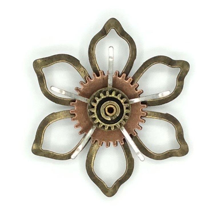 Mechanical Botanical Pin - 2107