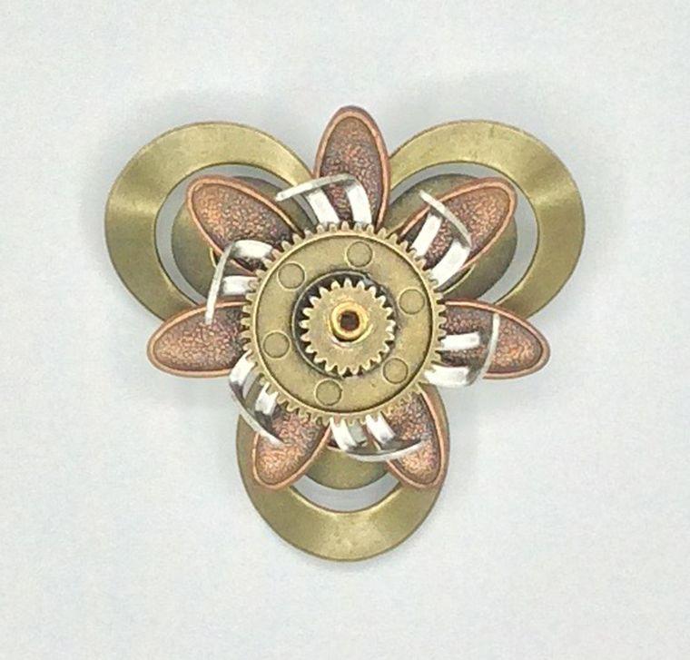 Mechanical Botanical Pin - 2106