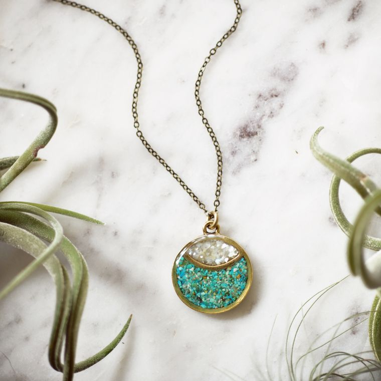 Marquise Moon Eye Necklace