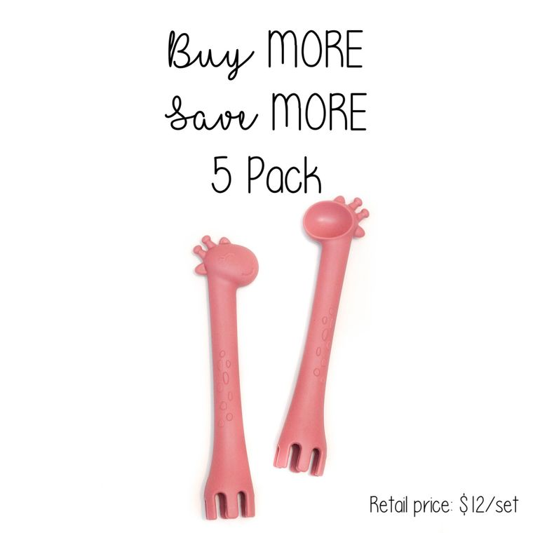 5 Pack | Fork + Spoon : Blush