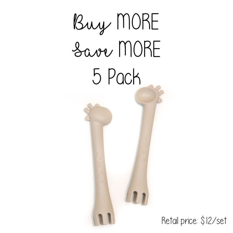 5 Pack | Fork + Spoon : Taupe