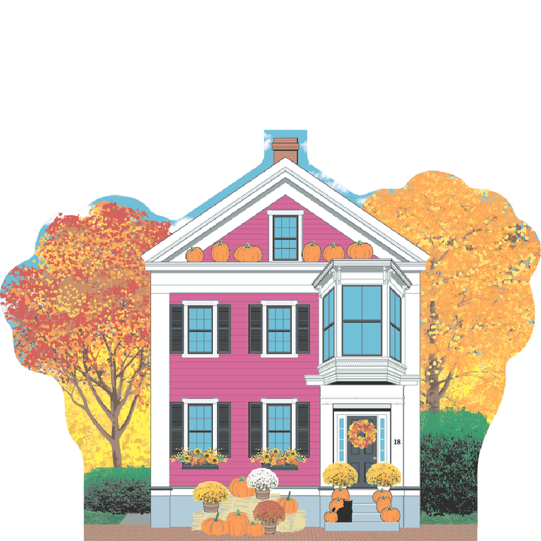 The Pink House, Autumn in Salem, Massachusetts