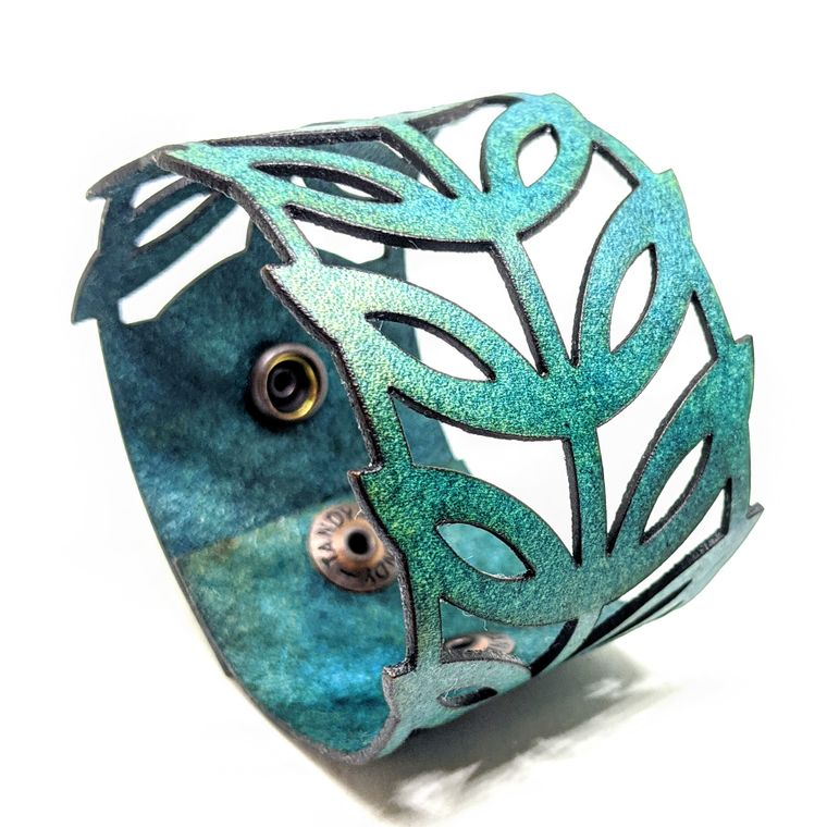 THE LEAF CUFF - Turquoise