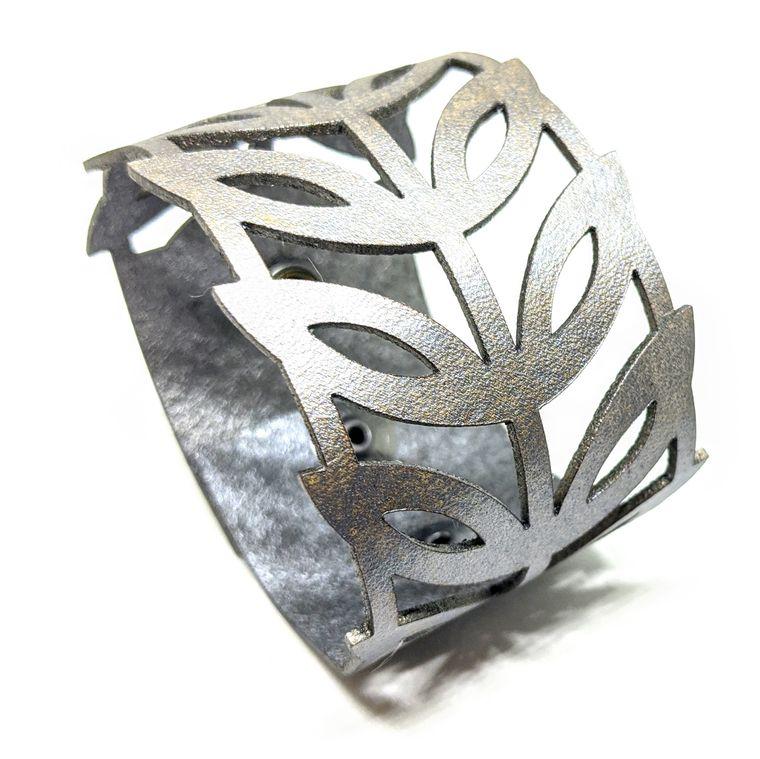 THE LEAF CUFF - Silver