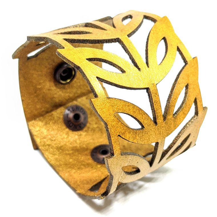 THE LEAF CUFF - Gold
