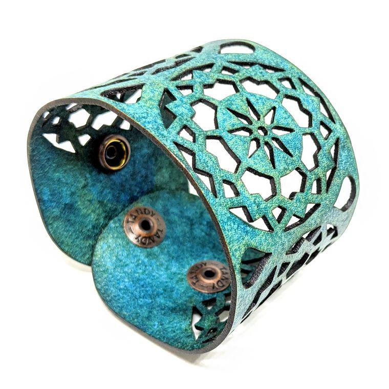 THE MANDALA CUFF - Turquoise