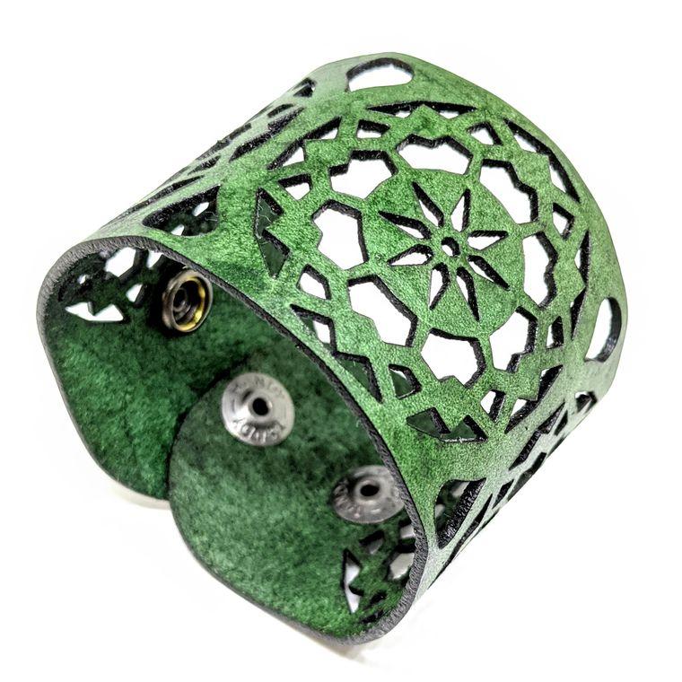 THE MANDALA CUFF - Green