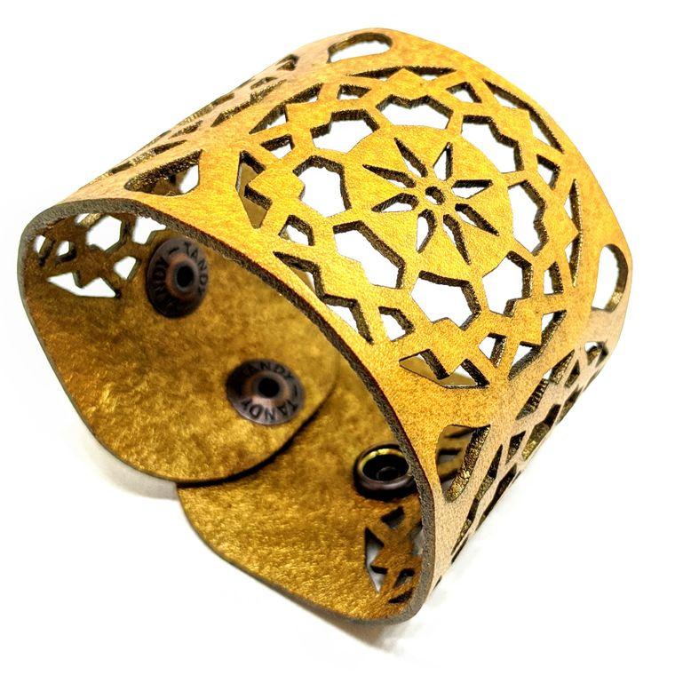 THE MANDALA CUFF - Gold