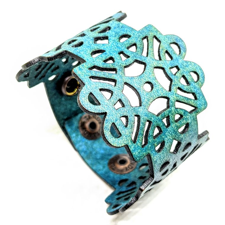 THE DECO CUFF - Turquoise