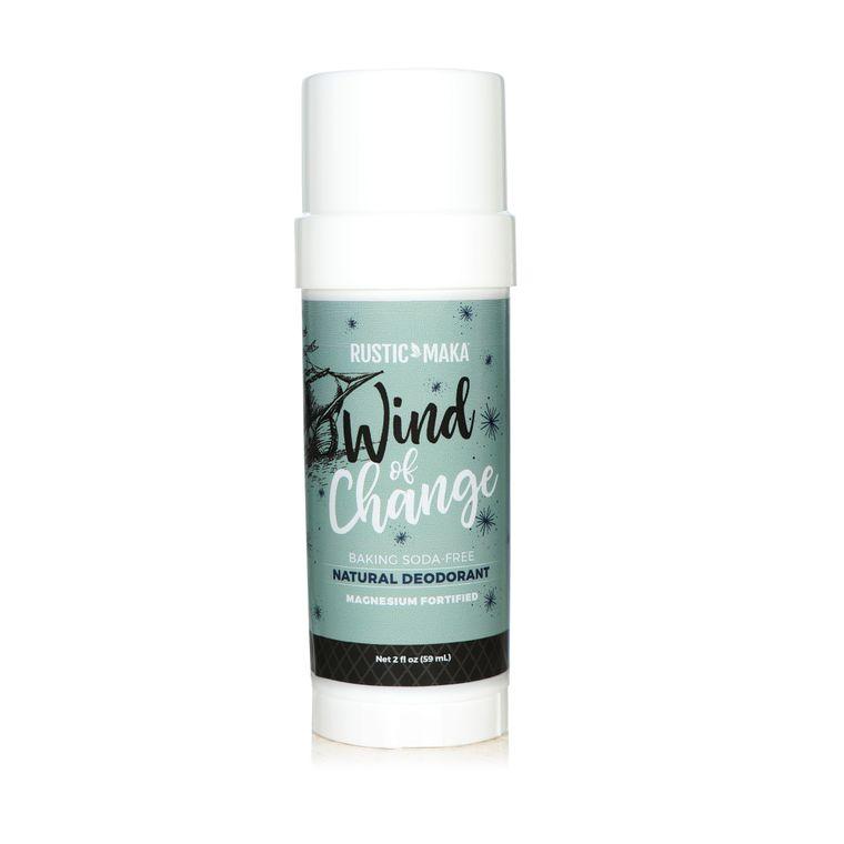 WIND OF CHANGE Natural Deodorant (Magnesium) Baking Soda-Free, 3.2 oz