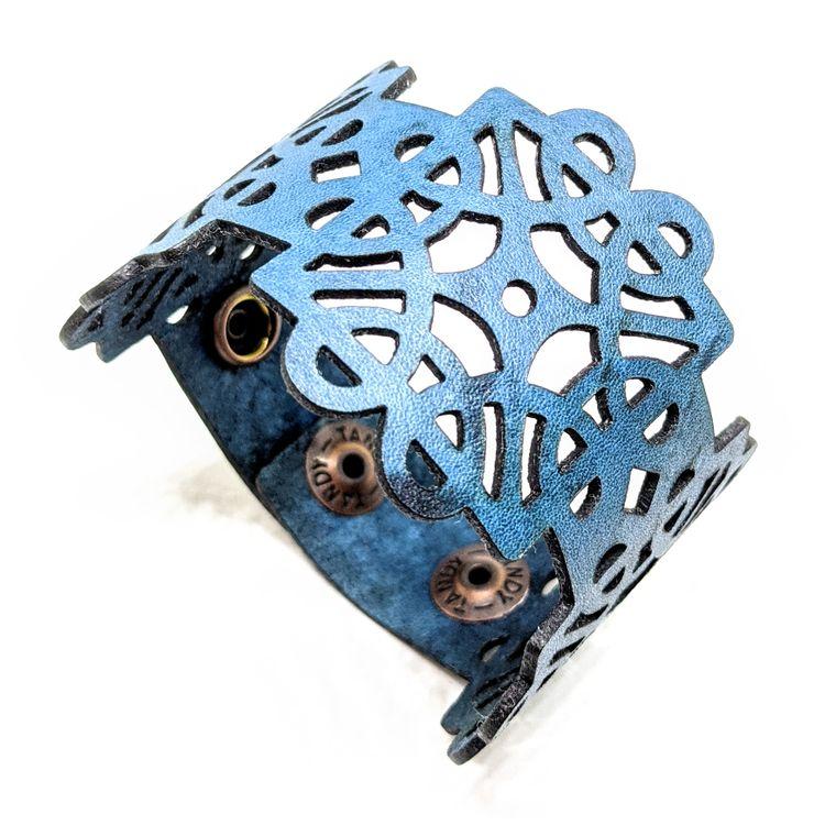 THE DECO CUFF - Blue