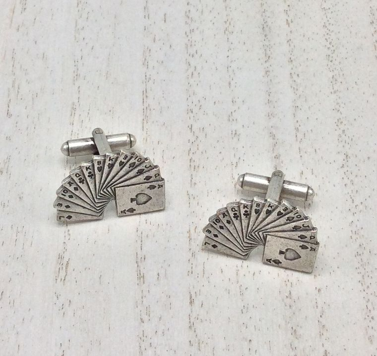 playing cards cufflinks - CL37