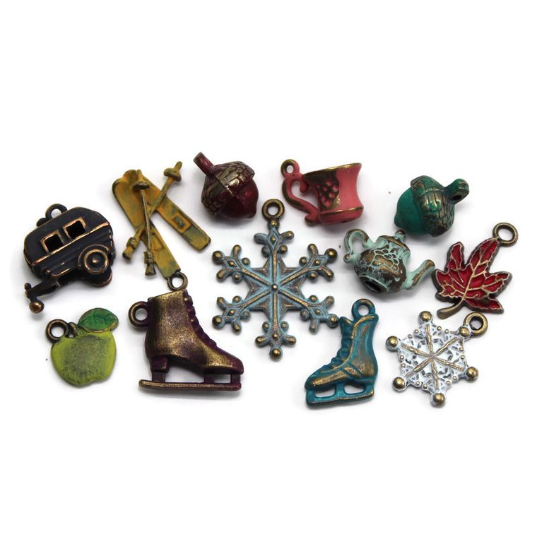 Fall and Winter Charm Collection Charm Only 12 Pack