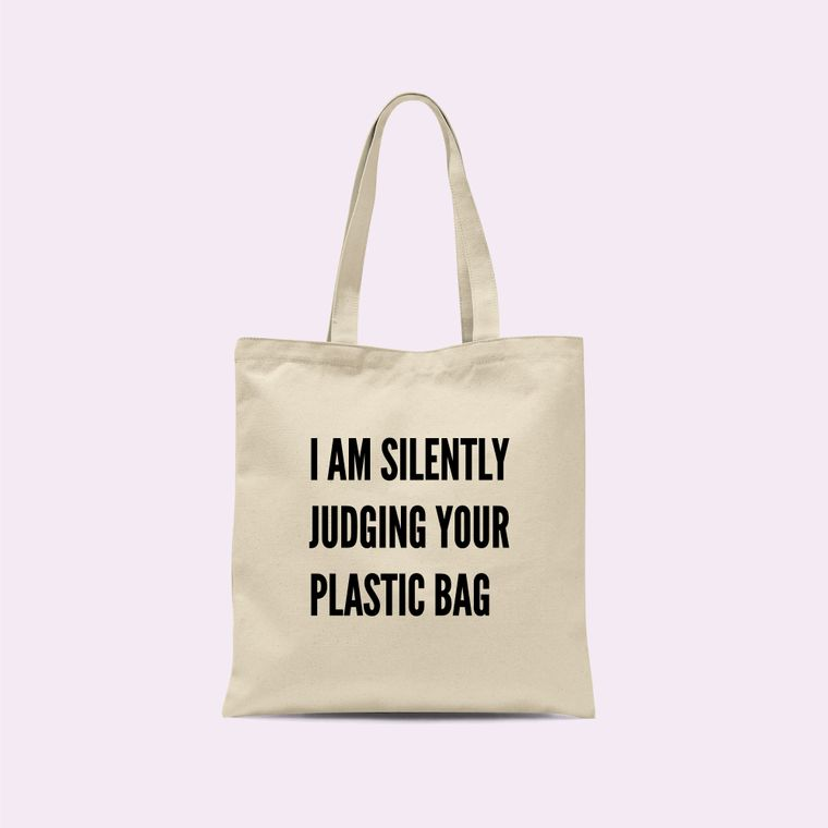 Silently Judging Your Plastic Tote Bag