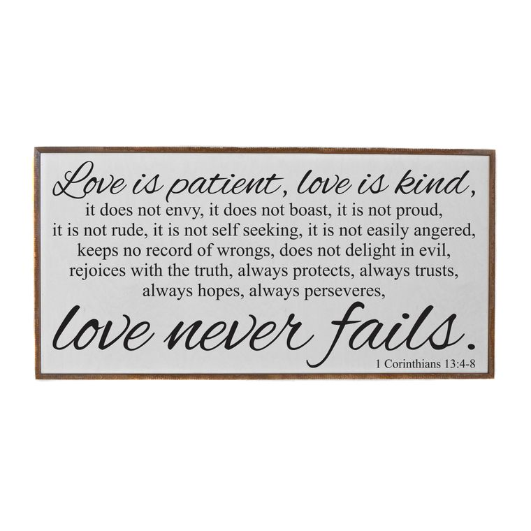 Farmhouse Signs - 32x16 Love Is Patient, Love Is Kind Wooden Rustic Sign