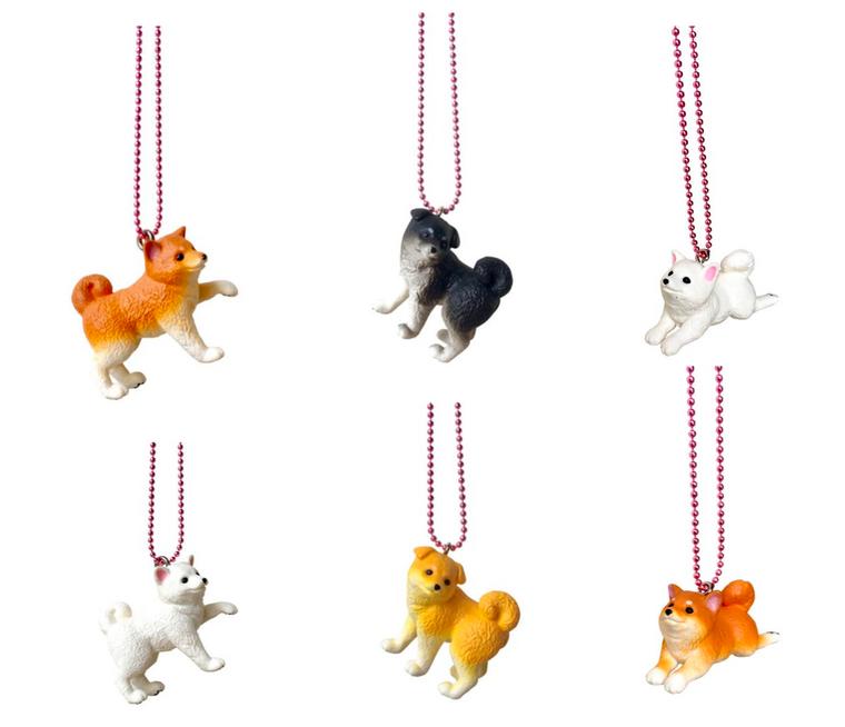 Ltd. Pop Cutie Japanese Puppy Necklaces - 6 pcs. Wholesale