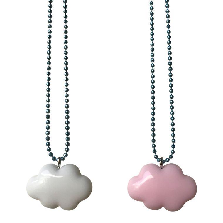 Pop Cutie Gacha Pastel Cloud Necklaces  - 6 pcs Wholesale