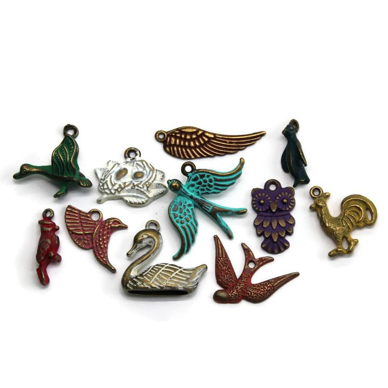 Birds of a Feather Charm Collection Charm Only 12 Pack