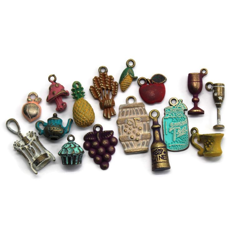 Food and Drink Charm Collection Charm Only 12 Pack