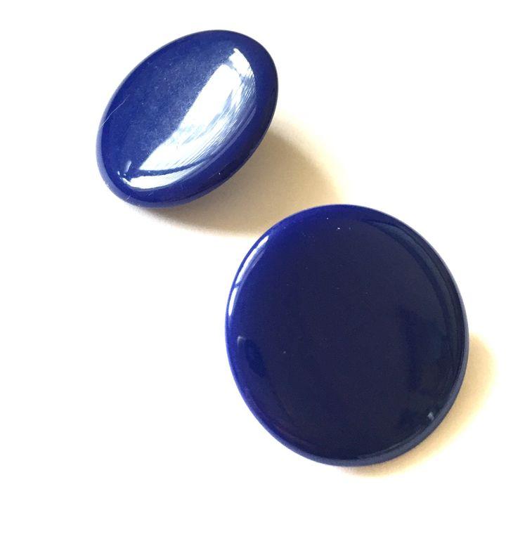 Navy Blue Lucite Disc Earrings | Mod Discs | Retro Dark Blue Circles | Mod Vintage Lucite Retro Studs