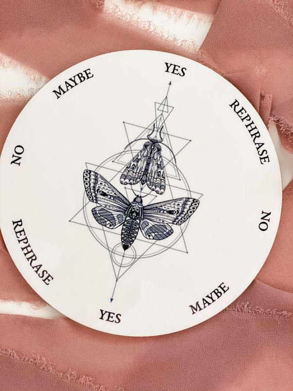 Geometric Butterfly and Moth Pendulum Board - 6 inch
