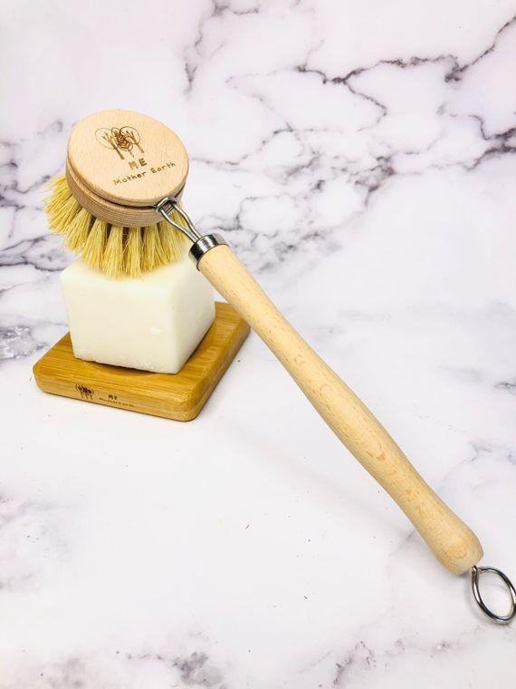 Coated Long Handle Sisal Kitchen Brush