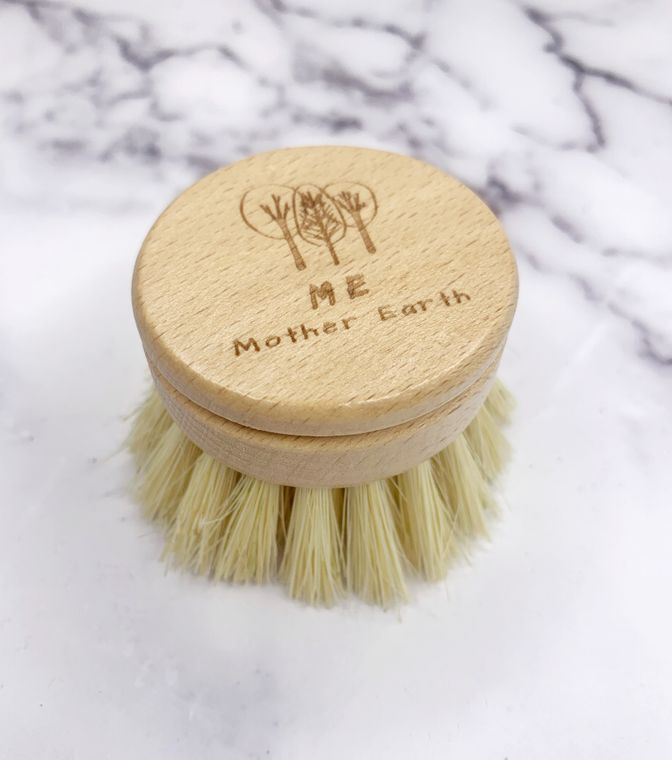 Coated Long Handle Sisal Kitchen Brush- Refill Head Only-