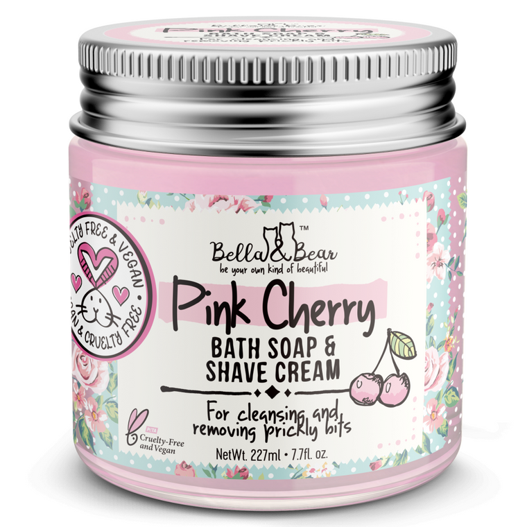 Pink Cherry Whipped Bath Soap & Shave Cream 6.7oz
