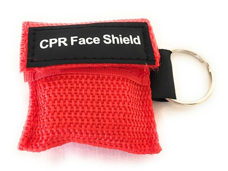CPR Mask Keychain Kit  With One Way Valve Breathing Barrier Shield Pocket By Saving Is Us