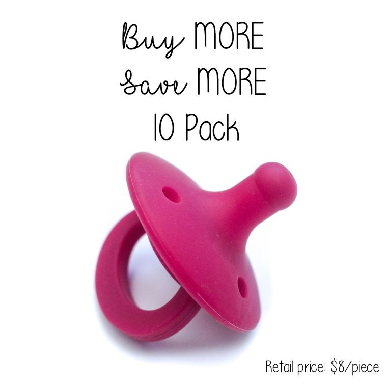 OLI pacifier : 10 Pack Crimson