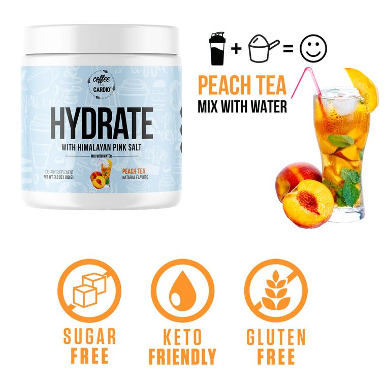 Hydrate- Electrolyte for Water-  Peach Tea