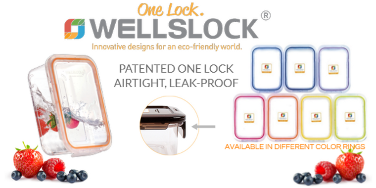 WELLSLOCK ONE LOCK FOOD STORAGE CONTAINERS