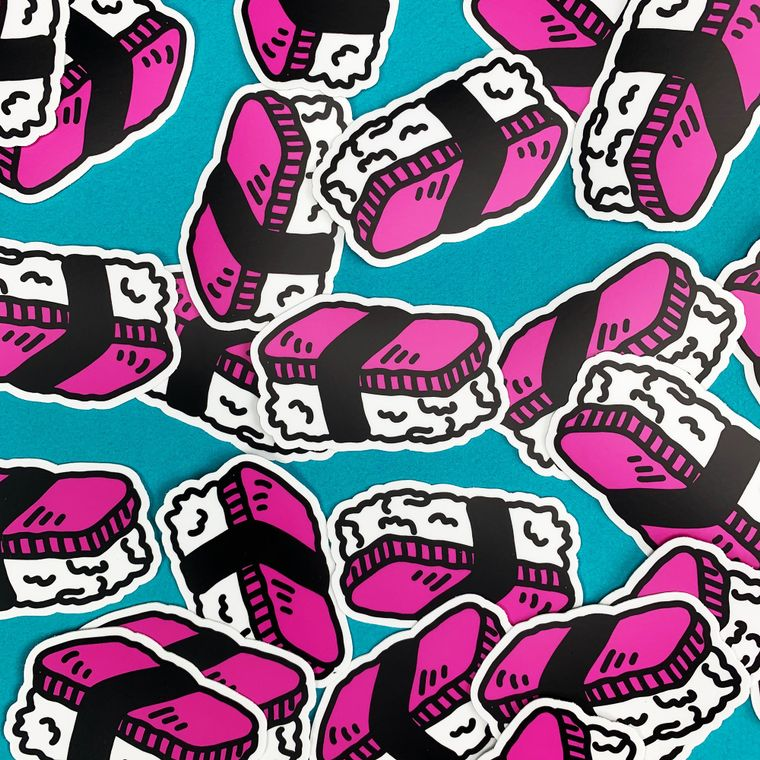 "Spam Musubi 3"" Sticker"