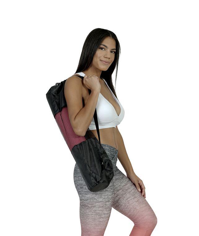 Stylish Asana Yoga Mat Bag - Portable Sports Bag with Adjustable Shoulder Straps