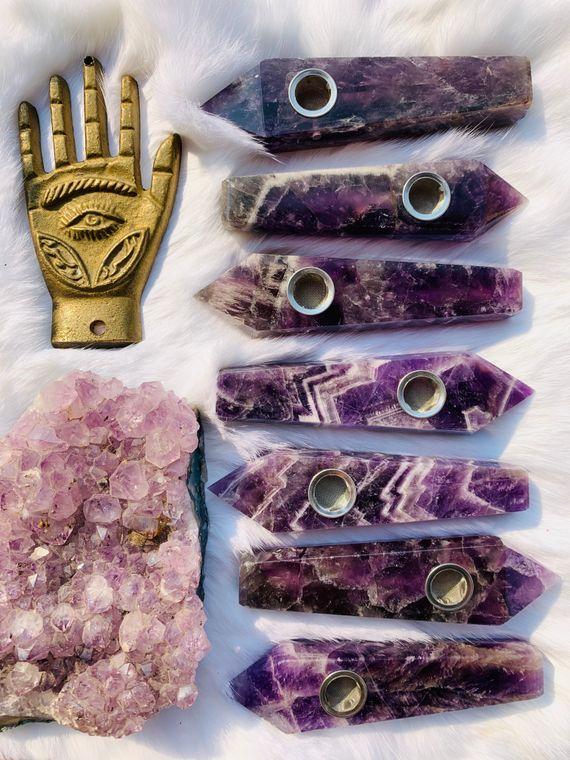 Amethyst Ritual Pipe