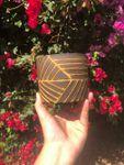 Carved Ceramic Planter - Made to Order