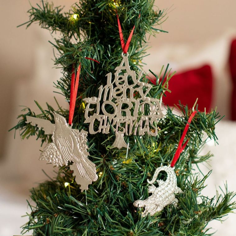 Handmade Florida FL Home State Christmas Ornament Gift Set