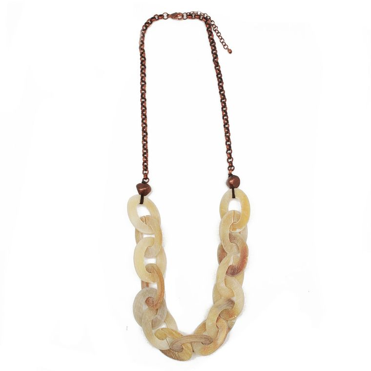 Omala Linen Links Copper Chain Necklace