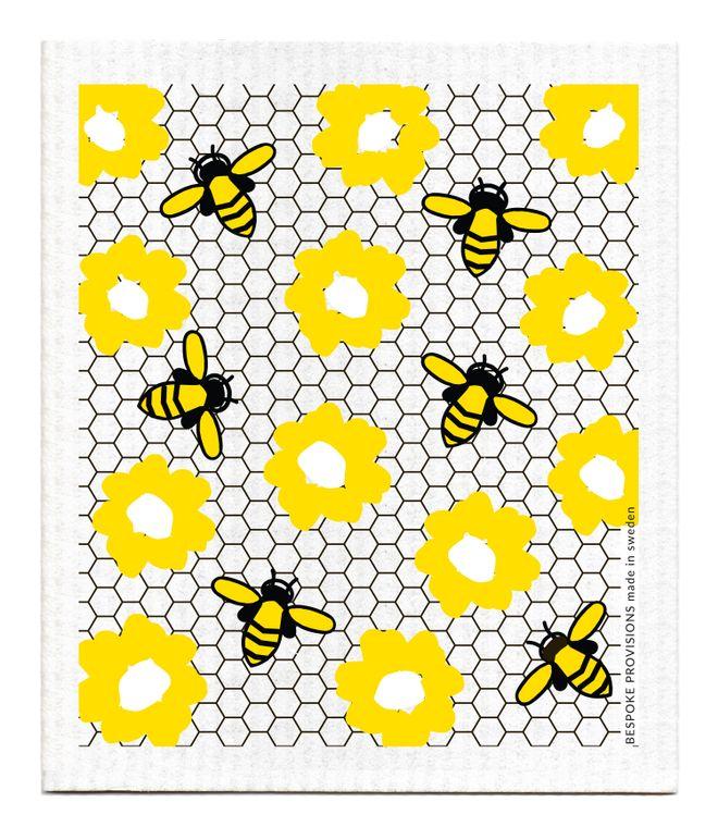 Bees Swedish Dishcloth