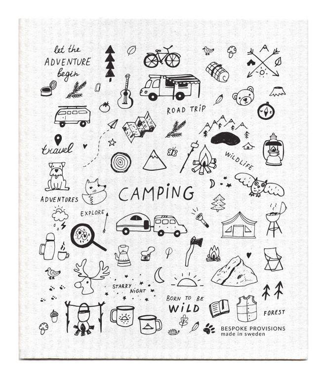 Camping Swedish Dishcloth
