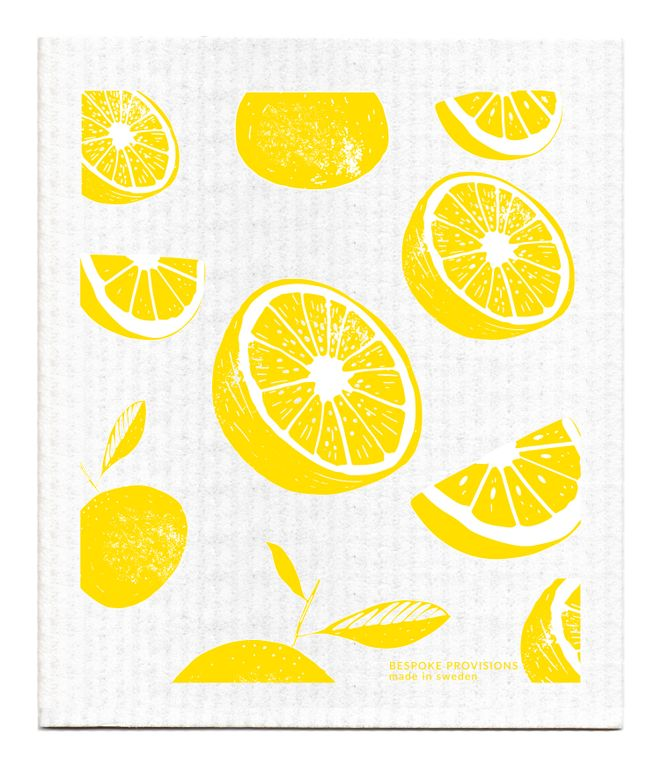 Lemons Swedish Dishcloth