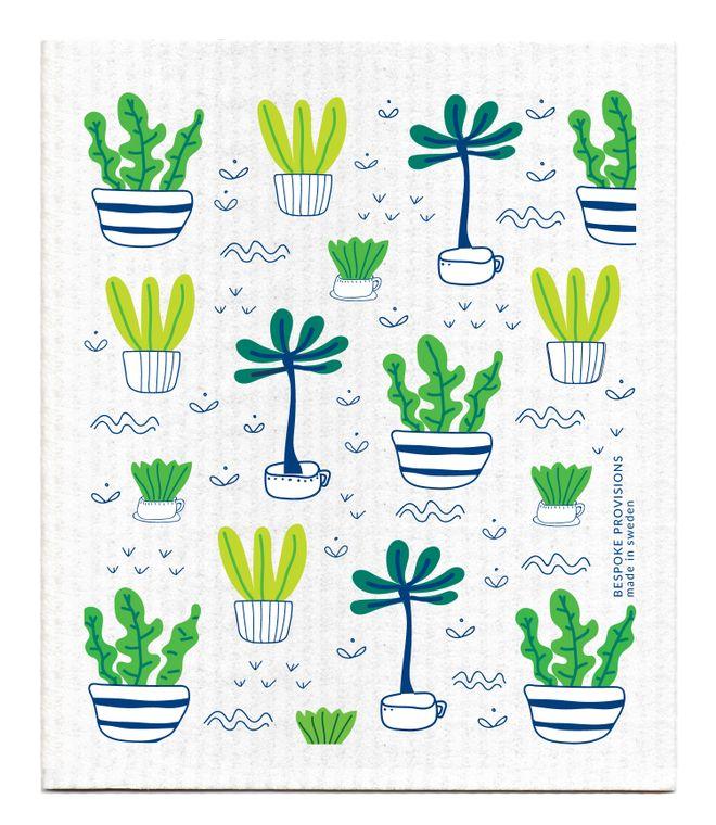 Potted Plants Swedish Dishcloth
