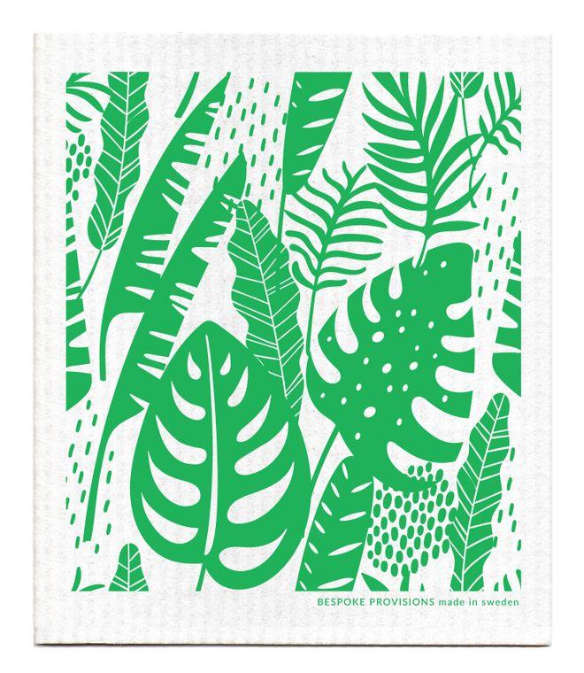 Tropical Leaves Swedish Dishcloth
