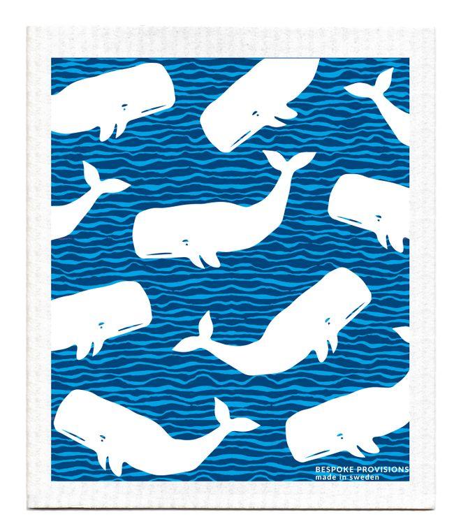 Whales Swedish Dishcloth