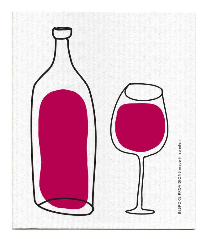 Red Wine Swedish Dishcloth