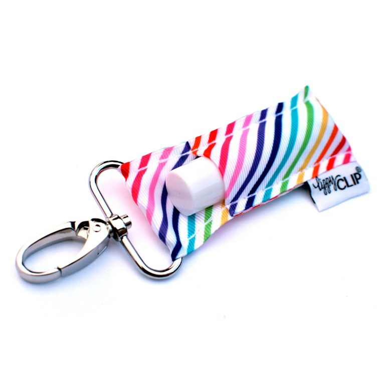 Rainbow Stripe LippyClip Lip Balm Holder