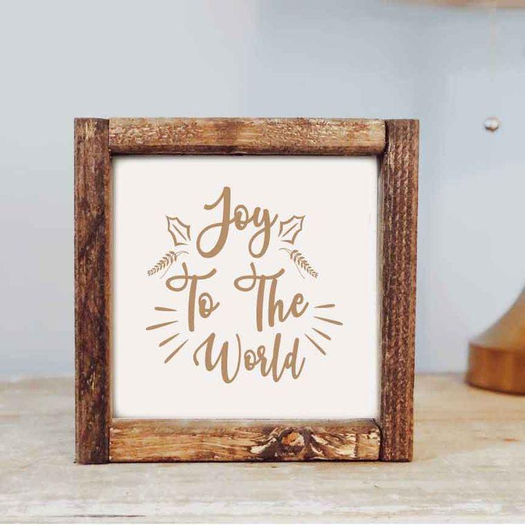 7 x 7  Joy to the World